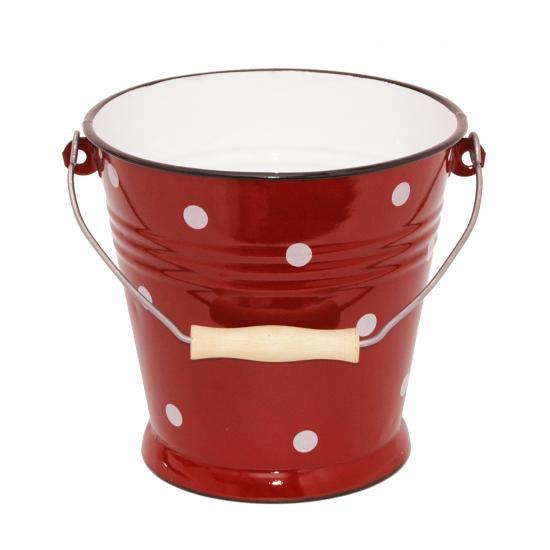 rood met witte stip- 5,5 liter  Prijs: € 14.50