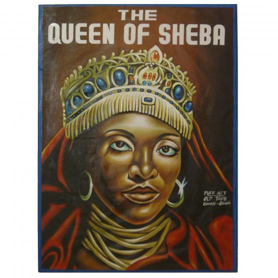 schilderij- voorbeeld titel: The Queen Of Sheeba artiest: Puff Art Kumasi, Ghana Prijs: € 450.00