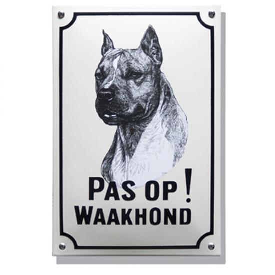 Stafford Terrier WH02 20X30cm Prijs: € 42.50