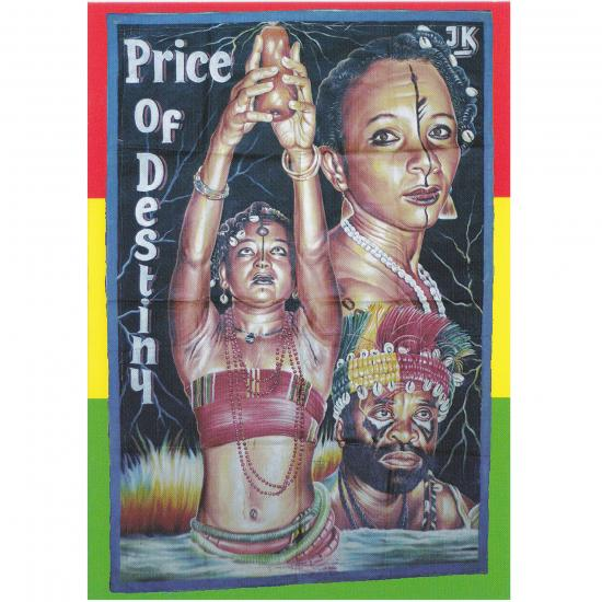 Filmposter Price of Destiny Oil on canvas, 160x107cm Artiest: E.A. Heavy Jeaurs Teshie, Ghana, ca. 2000  collectie Mandy Elsas Prijs: € 0.50