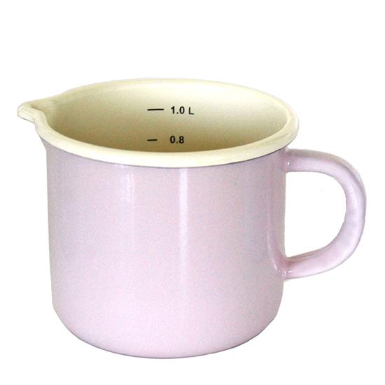 maatbeker 1 liter - roze Ø 13 cm  Prijs: € 9.50