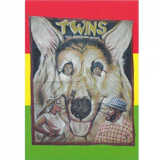 Filmposter Twins (Nigeria) Oil on canvas, 143x117cm Artiest: unknown Ghana, ca. 2000 collectie Mandy Elsas Prijs: € 0.50