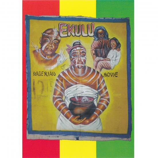 Filmposter Ekulu Oil on canvas, 138x119cm Artiest: Mr Brew Art AKA Kwesi Blue Takoradi, Ghana, ca. 2000 collectie Mandy Elsas Prijs: € 0.50