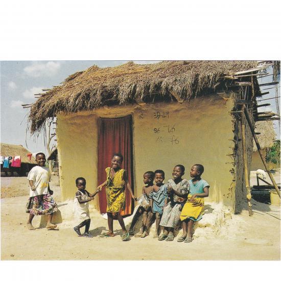 Kinderen in Amoah Krom Town,> Brong Ahafo District © Mandy Elsas, 2000 Prijs: € 1.00