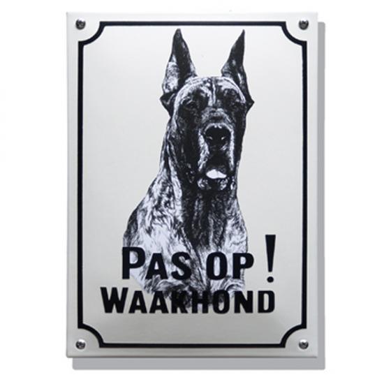 Deense Dog WH03 20X30cm Prijs: € 42.50