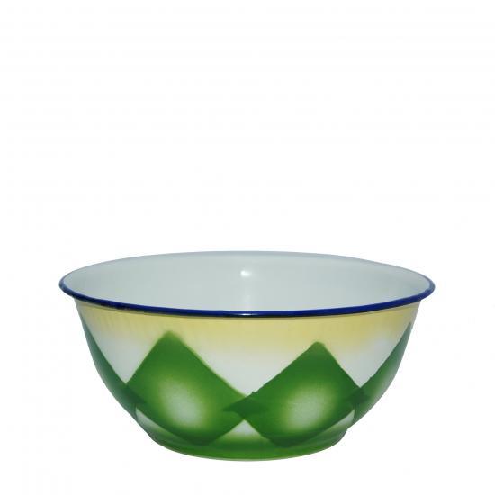 bak Ø 15 cm- blauw/ groen verkrijgbaar met blauwe of groene ruit Prijs: € 3.00